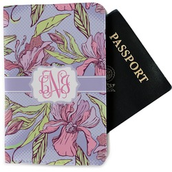 Orchids Passport Holder - Fabric (Personalized)
