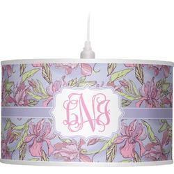 Orchids Drum Pendant Lamp (Personalized)
