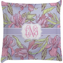 Orchids Euro Sham Pillow Case (Personalized)