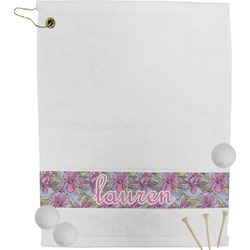 Orchids Golf Towel (Personalized)