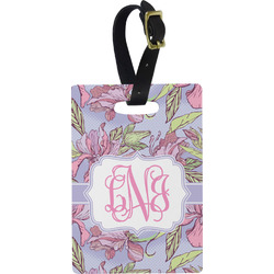 Orchids Rectangular Luggage Tag (Personalized)