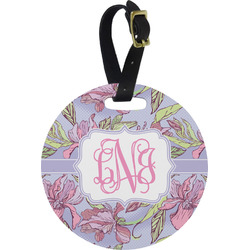 Orchids Round Luggage Tag (Personalized)