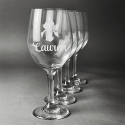 Orchids Wineglasses (Set of 4) (Personalized)