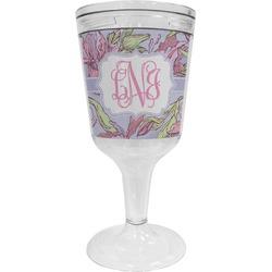 Orchids Wine Tumbler - 11 oz Plastic (Personalized)