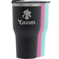 Orchids RTIC Tumbler - Black (Personalized)