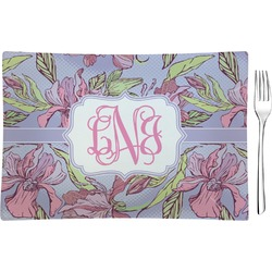 Orchids Rectangular Glass Appetizer / Dessert Plate - Single or Set (Personalized)