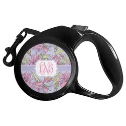 Orchids Retractable Dog Leash (Personalized)