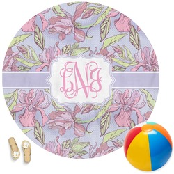 Orchids Round Beach Towel (Personalized)