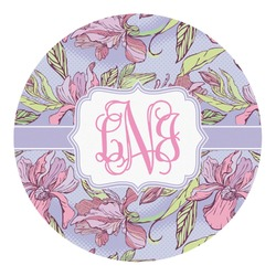 Orchids Round Decal - Custom Size (Personalized)