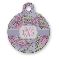 Orchids Round Pet Tag (Personalized)