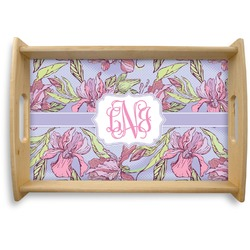Orchids Natural Wooden Tray (Personalized)