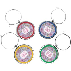 Orchids Wine Charms (Set of 4) (Personalized)