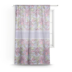 Orchids Sheer Curtains (Personalized)