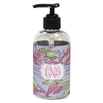 Orchids Plastic Soap / Lotion Dispenser (8 oz - Small) (Personalized)