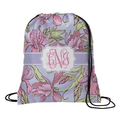 Orchids Drawstring Backpack (Personalized)