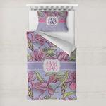 Orchids Toddler Bedding w/ Monogram