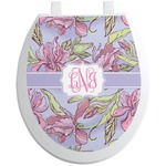 Orchids Toilet Seat Decal (Personalized)