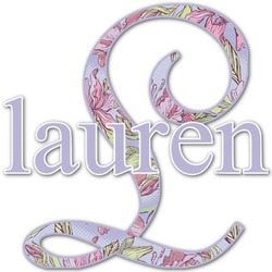 Orchids Name & Initial Decal - Custom Sized (Personalized)