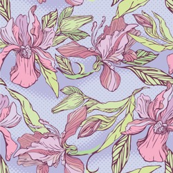 Orchids Wallpaper & Surface Covering