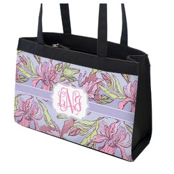 Orchids Zippered Everyday Tote (Personalized)