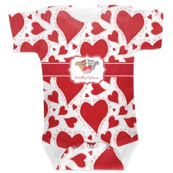 Cute Raccoon Couple Baby Bodysuit (Personalized)
