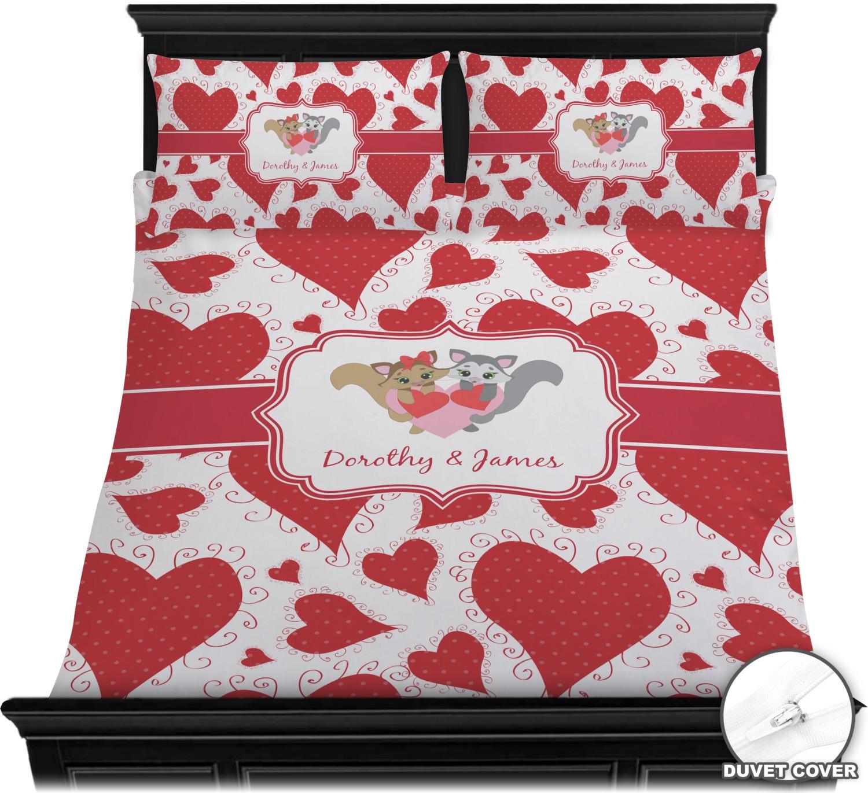 71f033d310 Cute Raccoon Couple Duvet Cover Set (Personalized) - YouCustomizeIt