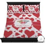 Cute Raccoon Couple Duvet Cover Set (Personalized)