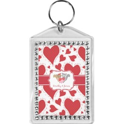 Cute Raccoon Couple Bling Keychain (Personalized)
