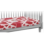 Cute Raccoon Couple Crib Fitted Sheet (Personalized)
