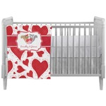 Cute Raccoon Couple Crib Comforter / Quilt (Personalized)