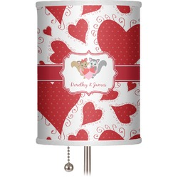 """Cute Raccoon Couple 7"""" Drum Lamp Shade (Personalized)"""