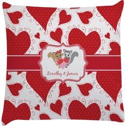 Cute Raccoon Couple Decorative Pillow Case (Personalized)