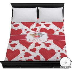 Cute Raccoon Couple Duvet Cover (Personalized)