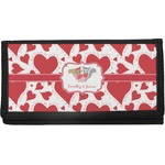 Cute Squirrel Couple Canvas Checkbook Cover (Personalized)