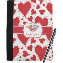 Cute Raccoon Couple Notebook Padfolio (Personalized)