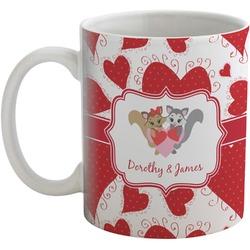 Cute Raccoon Couple Coffee Mug (Personalized)