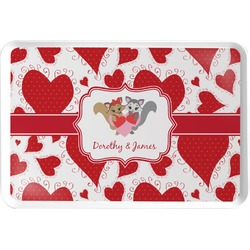 Cute Raccoon Couple Serving Tray (Personalized)