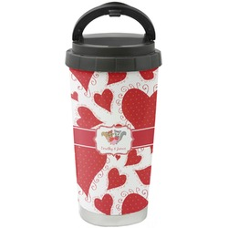 Cute Squirrel Couple Stainless Steel Coffee Tumbler (Personalized)