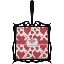 Cute Raccoon Couple Trivet with Handle (Personalized)
