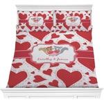 Cute Raccoon Couple Comforter Set (Personalized)