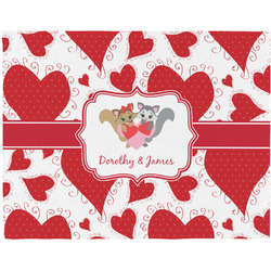 Cute Raccoon Couple Placemat (Fabric) (Personalized)