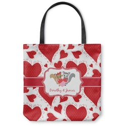 Cute Raccoon Couple Canvas Tote Bag (Personalized)