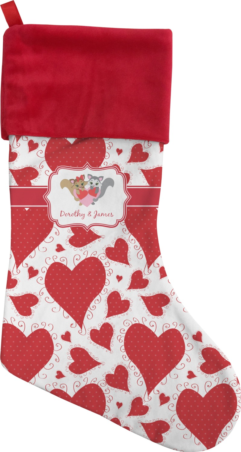 Cute Raccoon Couple Christmas Stocking (Personalized) - YouCustomizeIt