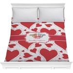 Cute Raccoon Couple Comforter (Personalized)