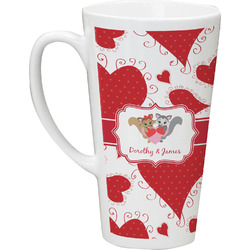 Cute Raccoon Couple Latte Mug (Personalized)