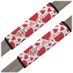 Cute Raccoon Couple Seat Belt Covers (Set of 2) (Personalized)