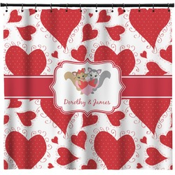 Cute Raccoon Couple Shower Curtain (Personalized)