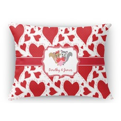 Cute Squirrel Couple Rectangular Throw Pillow Case (Personalized)