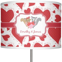 "Cute Squirrel Couple 13"" Drum Lamp Shade (Personalized)"