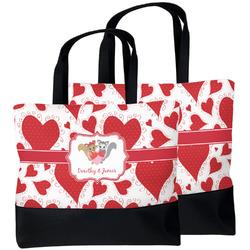 Cute Squirrel Couple Beach Tote Bag (Personalized)